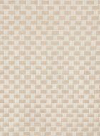 Écharpe motif damier et franges, Blanc cassé