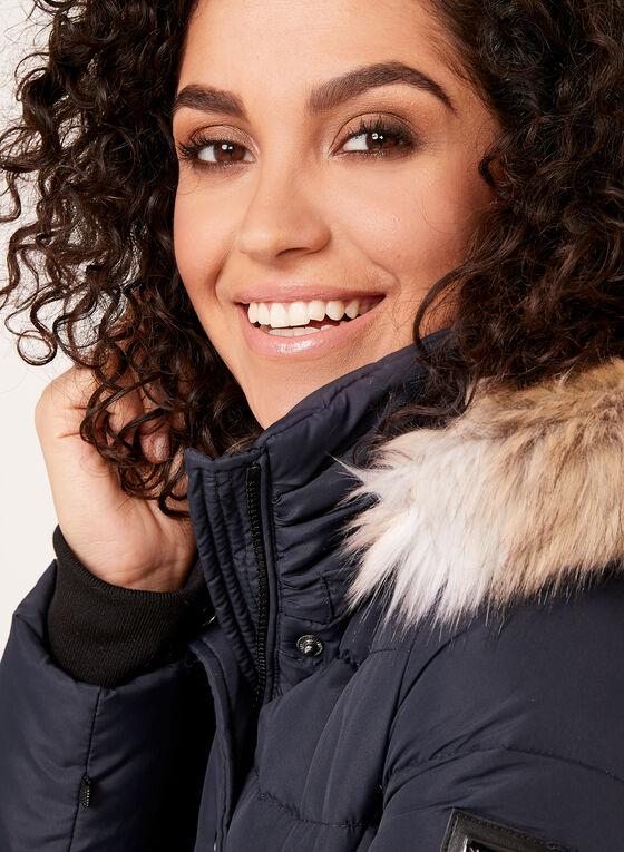 Novelti - Manteau en duvet avec col en fausse fourrure, Bleu, hi-res