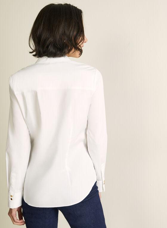 Chemisier en coton extensible, Blanc