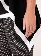 Frank Lyman - Cardigan drapé en jersey contrastant, Noir, hi-res