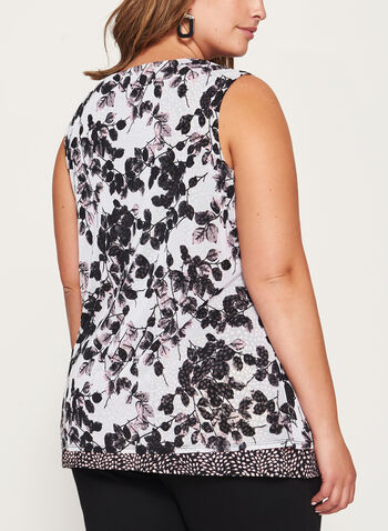 Floral Print Double Layer Top , , hi-res