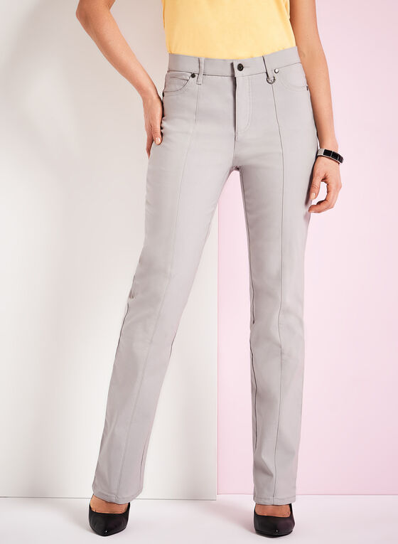 Simon Chang - Straight Leg Pants, Silver, hi-res