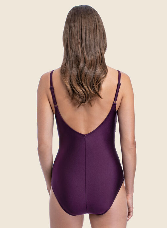 Profile by Gottex - Crossover One-Piece Swimsuit, Purple