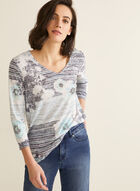 Burnout Print T-Shirt , Blue