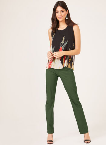 Simon Chang - Signature Fit Straight Leg Pants, Green, hi-res