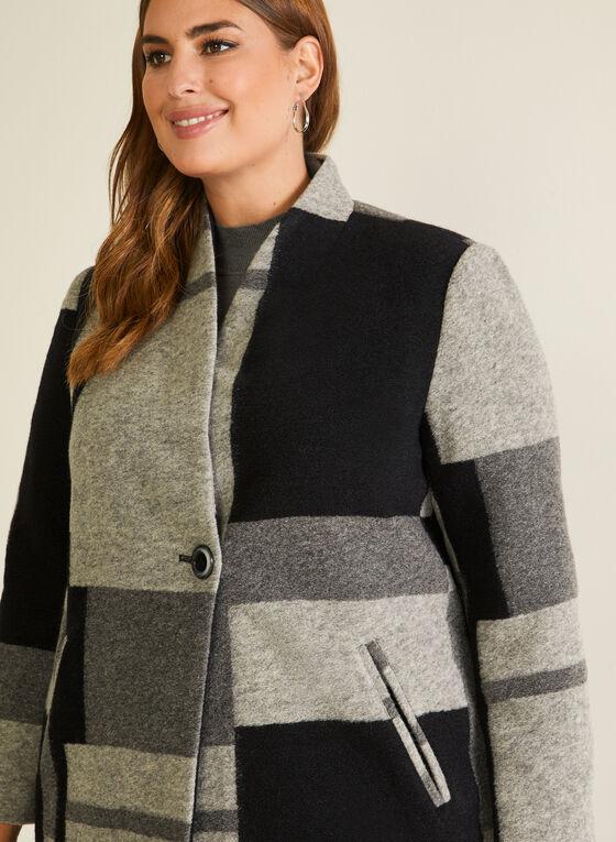 Manteau à blocs monochrome, Noir