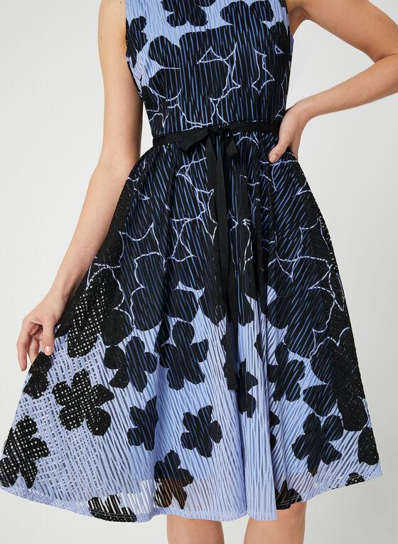 Robe texturée à motif floral, Violet