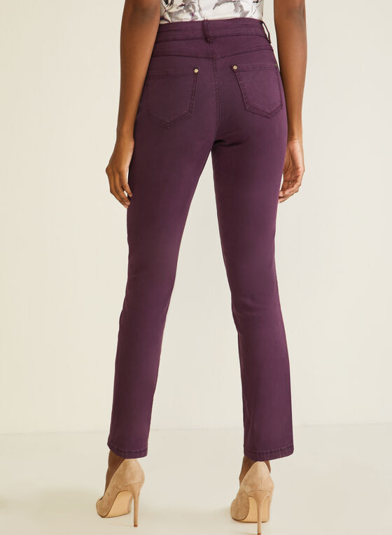 Straight Leg Jeans, Purple
