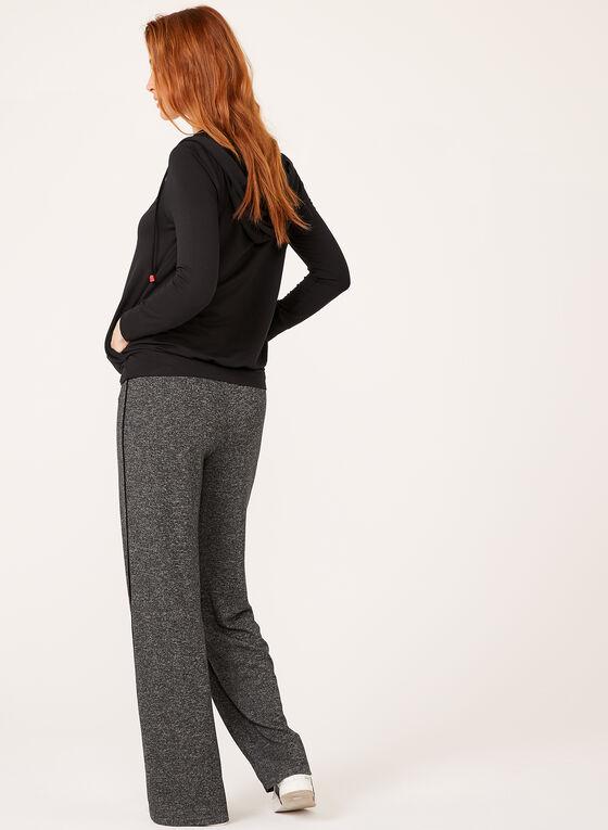 Long Sleeve Hooded Sweater, Black, hi-res