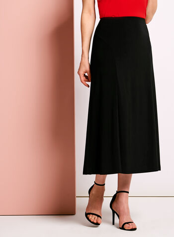 Pull-On Gored Maxi Skirt, , hi-res