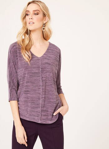 3/4 Dolman Sleeve Blouse, Purple, hi-res
