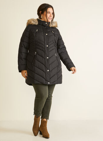 Laundry - Quilted Vegan Down Coat, Black,  coat, down, quilted, good, fall winter 2020