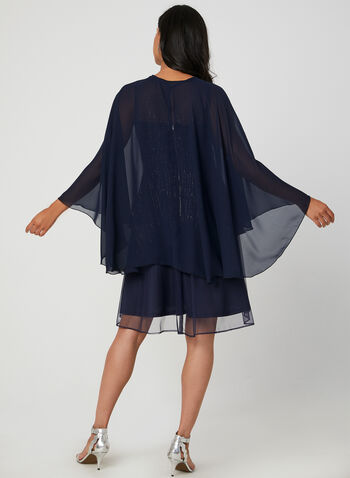 Chiffon Cape, Blue,  cape, long cape, fall 2019, winter 2019