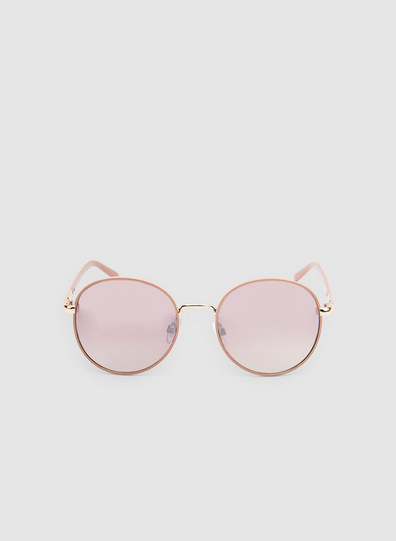 Wire Frame Sunglasses, Pink