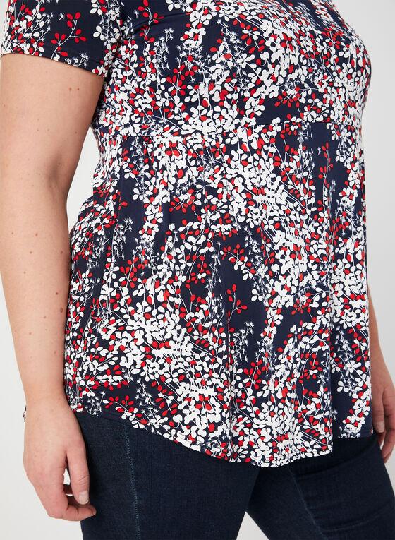 T-shirt à motif texturé, Bleu, hi-res