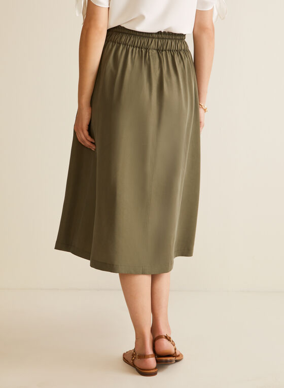 Tencel Midi Skirt, Green