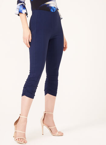 Carré Noir – Modern Pull-On Capri Pants, Blue, hi-res