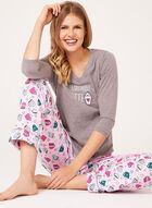Pillow Talk - Cotton Jersey Pajama Set, Grey, hi-res