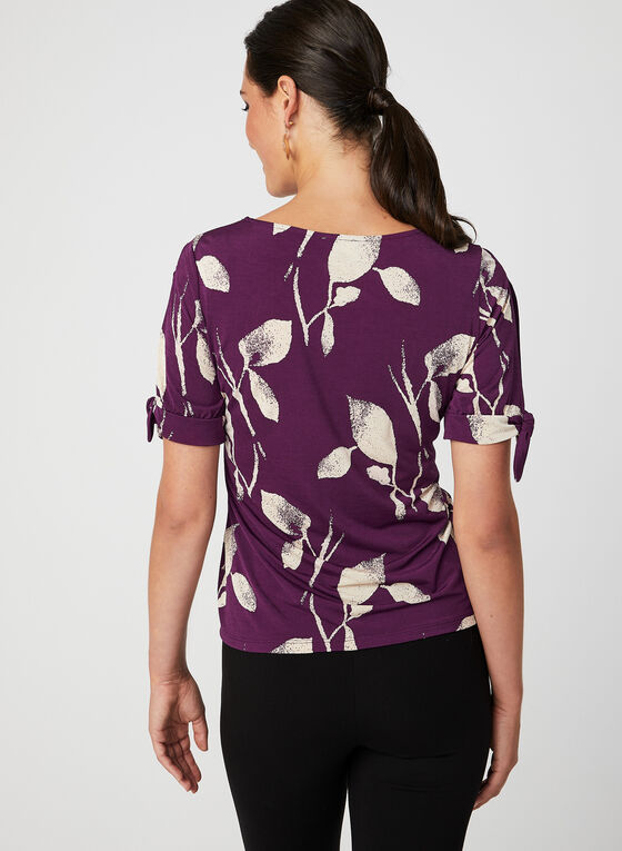Short Sleeve Jersey Top, Purple, hi-res