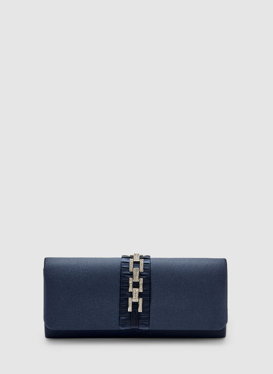 Flap Evening Clutch, Blue, hi-res
