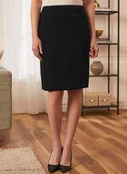 Wide Waistband Pencil Skirt, Black