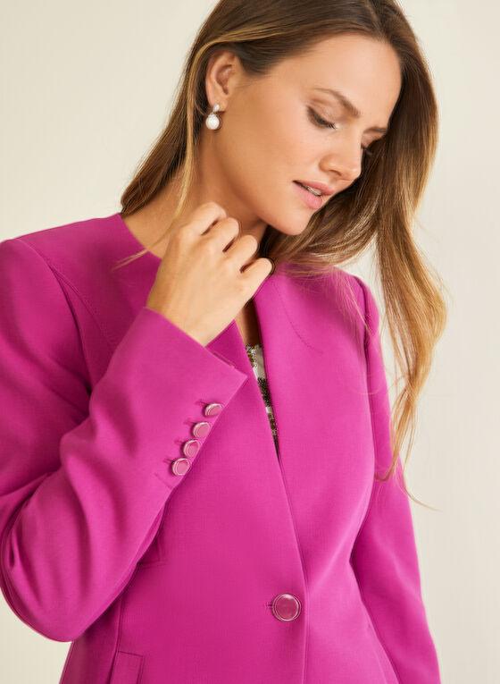 Single Button Redingote, Purple
