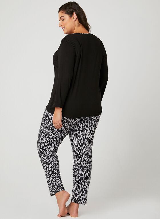 Hamilton - Pyjama 2 pièces motif léopard, Gris, hi-res