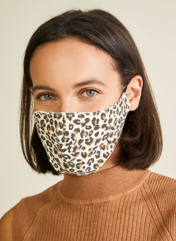 Pin Point - Animal Print Mask, Brown,  mask, protective, reusable, washable, breathable, comfortable, spring summer 2020