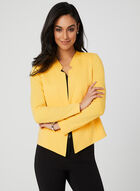 Long Sleeve Open Front Jacket, Yellow, hi-res
