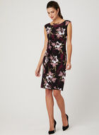 Floral Print Jersey Dress, Red, hi-res