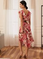 Floral Print Ruffle Detail Dress, White