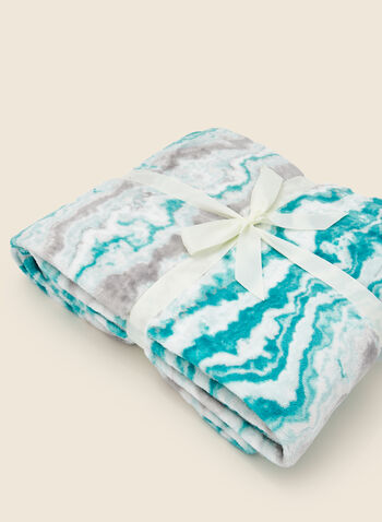 Marble Print Blanket, Blue,  fall winter 2020, blanket, gift, holidays, holidays 2020