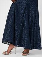 Robe sirène en dentelle pailletée, Bleu, hi-res