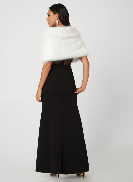 Faux Fur Stole, Off White