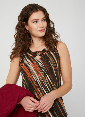 Sleeveless Jersey Top, Red, hi-res,  Canada, top, sleeveless, stripes, jersey, fall 2019, winter 2019
