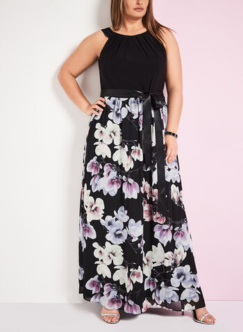 Sleeveless Floral Print Maxi Dress, , hi-res