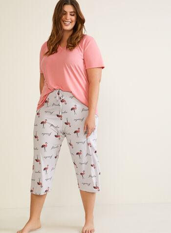 Patterned Pyjama Set, Grey,  fall winter 2020, set, pyjama