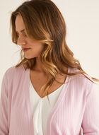 Open Front Long Sleeve Cardigan, Pink