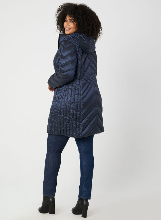 BCBGeneration - Packable Down Quilt Coat, Blue