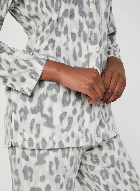 Animal Print Pyjamas, Grey, hi-res