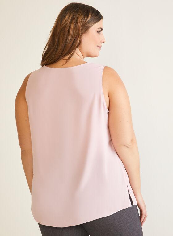Sleeveless V-Neck Blouse, Pink