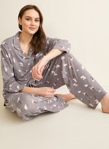 Comfort & Co. - Pyjama à flamants roses, Gris,  printemps été 2020, pyjama, ensemble, Comfort & Co