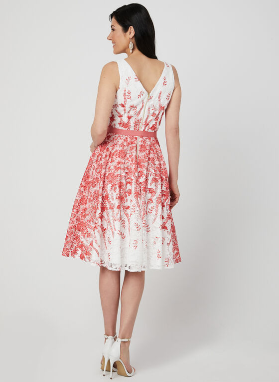 Fit & Flare Lace Dress, White
