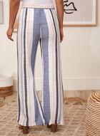 Charlie B - Striped Linen Palazzo Pants, Blue