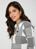 Patchwork Print Top, White, hi-res