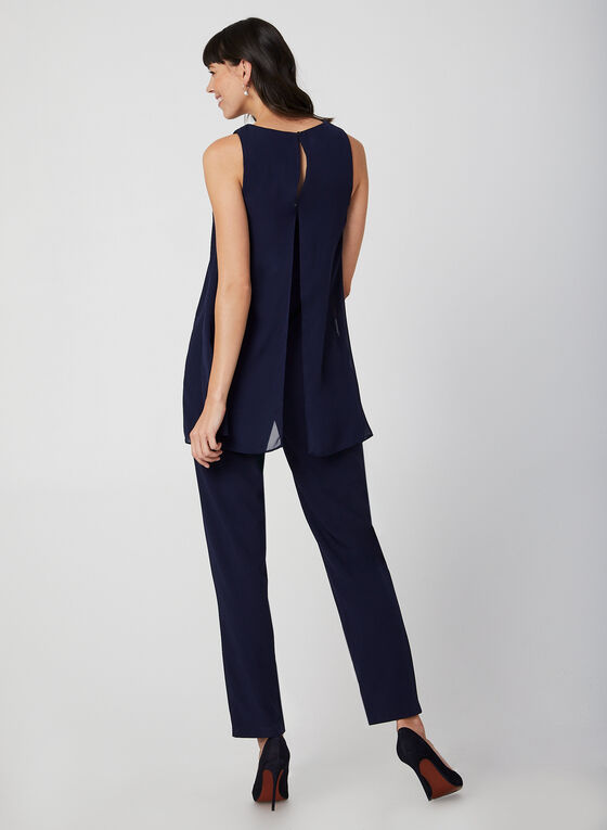 Marina – Pearl Neck Jumpsuit, Blue