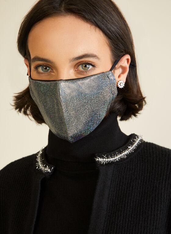 Shiny Iridescent Mask, Silver