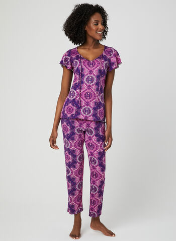 Hamilton - Mixed Print Pyjama Set, Blue, hi-res