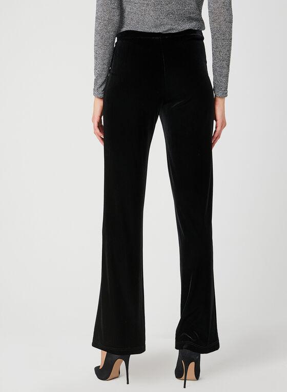 Pantalon coupe moderne en velours , Noir, hi-res