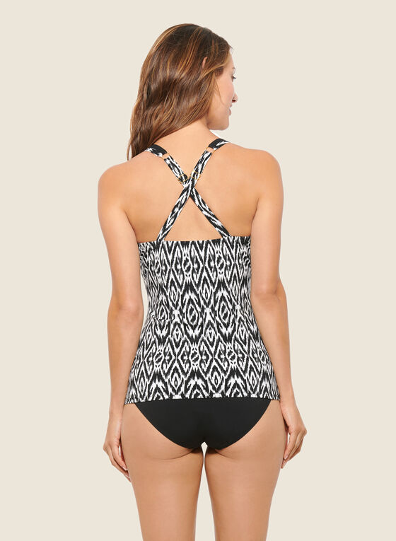 Christina - Abstract Print Two-Piece Swimsuit, Black